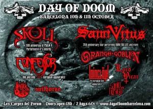 Cartel Day of Doom Barcelona 2014