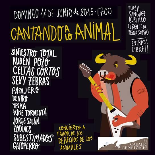 Festival a favor de los derechos animales cantando a lo animal