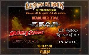 leyendas del rock fiesta  bienvenida
