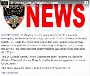 chuck berry muerte policia
