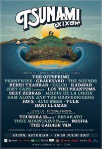 tsunami festival gijon cartel por dias