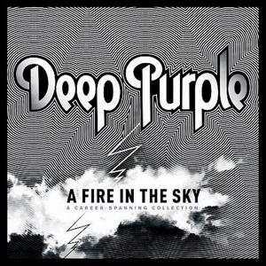 deep purple fire in the sky
