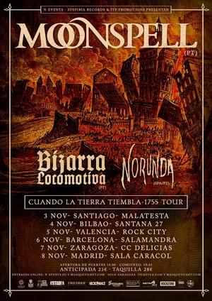 moonspell gira española 2017