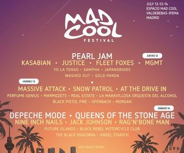 mad cool 2018 cartel por dias