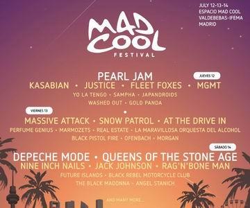 mad cool 2018 cartel por dias