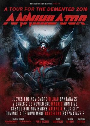 annihilator españa noviembre 2018