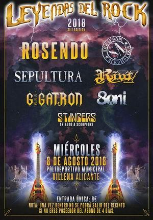 ecbe18d59 Cartel de la Fiesta de Bienvenida del FESTIVAL LEYENDAS DEL ROCK ...