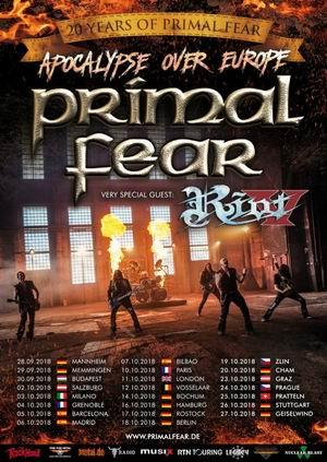 primal fear riot tour 2018