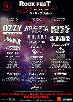 rock fest barcelona 2018 cartel por dias