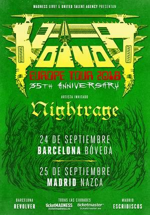 voivod gira española 2018 con nightrage