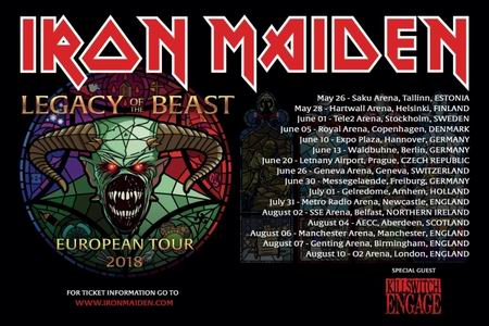 iron maiden legacy of the beast summer 2018