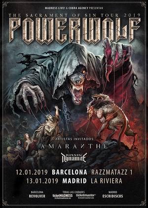 powerwolf amaranthe madrid barcelona