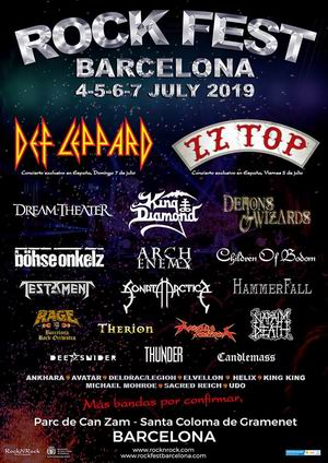rock fest bcn 2019 cartel con dream theater