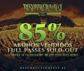 abonos resurrection fest 85 vendidos