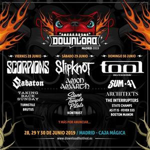 cartel por dias download fest madrid 2019