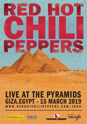red hot chili peppers egipto