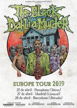 the black dahlia murder gira 2019