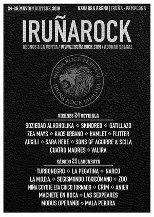 cartel completo iruña rock festival 2019