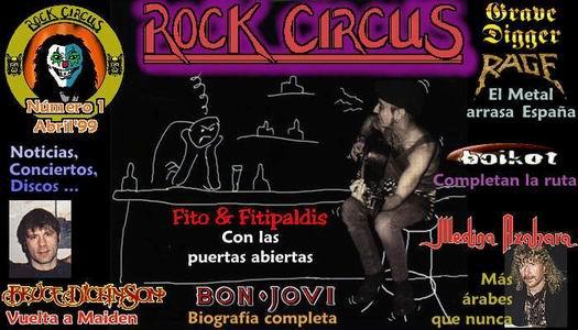 Portada Rock Circus Numero 1. Abril 1999