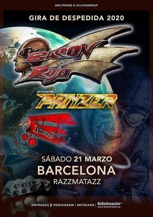 baron rojo panzer barcelona 2020 gira despedida
