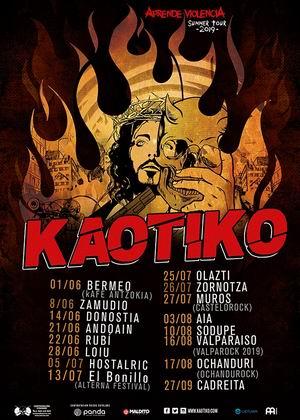 kaotiko fechas 2019