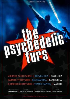 the psychedelic furs gira española 2019