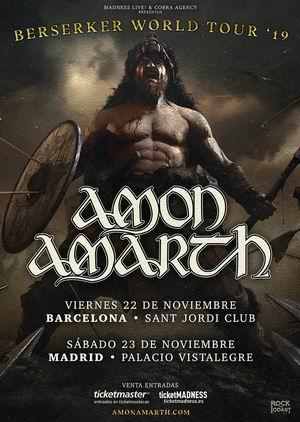 amon amarth barcelona madrid 2019