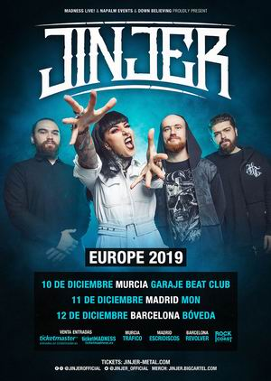 jinjer murcia madrid barcelona 2019