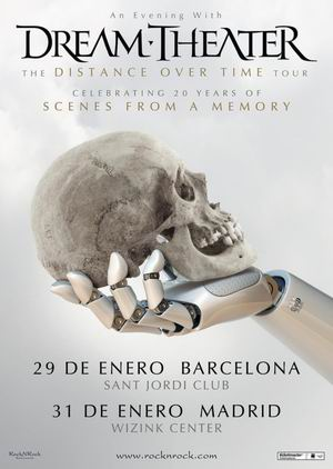 dream theater madrid barcelona 2020 enero
