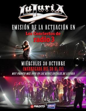 lujuria conciertos radio 3