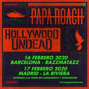 papa roach barcelona madrid 2020 2