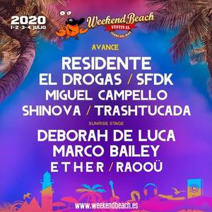 weekend beach 2020 primeras confirmaciones