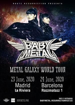 babymetal madrid barcelona 2020