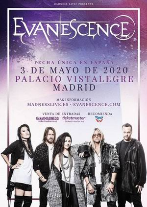 evanescence madrid vistalegre 2020
