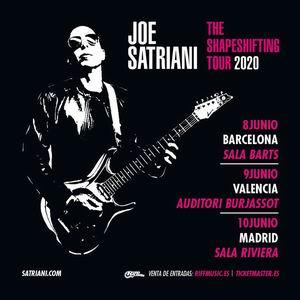 joe satriani madrid barcelona valencia 2020