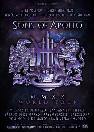 sons of apollo madrid barcelona bilbao 2020