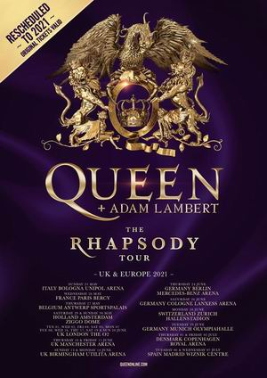 queen + adam lambert cambio fechas 2021 coronavirus 2