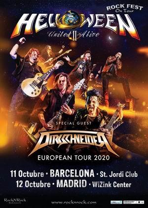 helloween octubre madrid barcelona