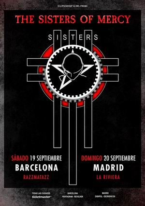 sisters of mercy septiembre madrid barcelona 2020