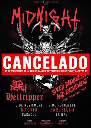 midnight conciertos cancelados