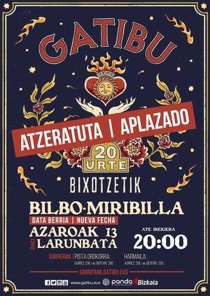 gatibu concierto bilbao aplazado a 2021