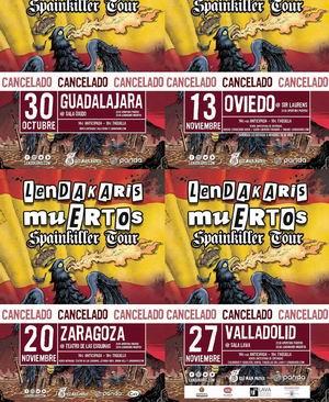 lendakaris muertos conciertos aplazados a 2021 2