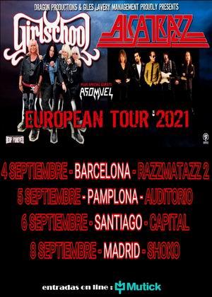 gira española alcatrazz girlschool 2021