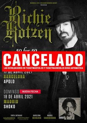 richie kotzen conciertos cancelados 2021