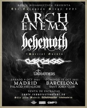 arch enemy behemoth carcass madrid barcelona 2021
