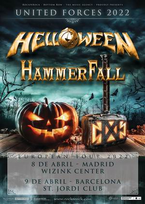 helloween hammerfall 2020 madrid barcelona