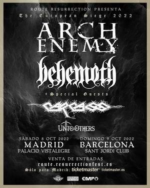 arch enemy behemoth gira aplazada a 2022