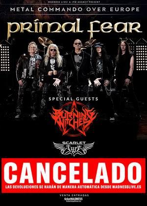 primal fear gira cancelada