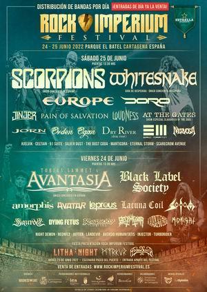 rock imperium fest cartagena 2022 cartel por dias